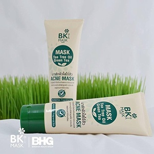 2 Units of BK Acne Mask Tea Tree Green Tea Mental Anti Acne Clear Face Skin Care.[Get Free Tomato Facial Mask ]