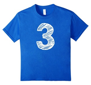 Kids Kids 3 Year Old Shirt - Three Years Birthday Party T-Shirt 8 Royal Blue