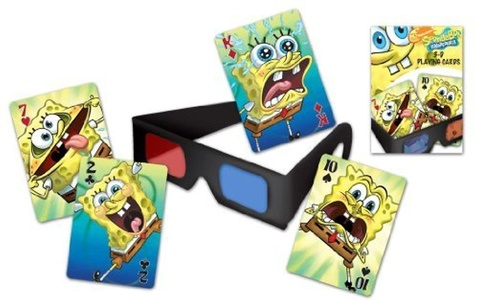 Bicycle Spongebob Squarepants 3d Playing Cards And 3d Viewing Glasses by Bicycle