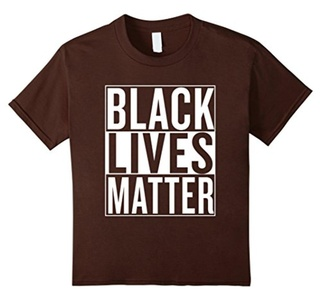 Kids Black Lives Matter Race Unity Say No Racism T-shirt 8 Brown
