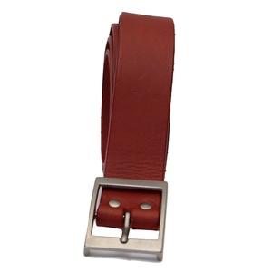 Mens Red Real Cowhide Leather Britsh Handmade Belts. Belt Width - 1.5