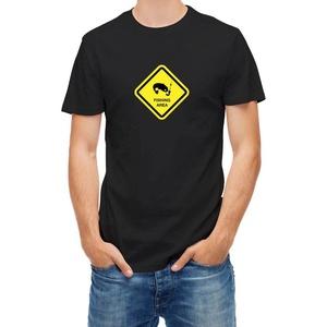 T-shirt Fishing Area Sign Black M