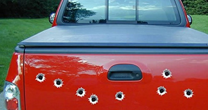online store bullet holes car decals set of 10. Black Bedroom Furniture Sets. Home Design Ideas