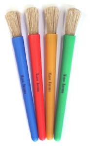 Chubby Brushes - Colourful Toddler Paint Brushes Set of 4 by Major Brushes