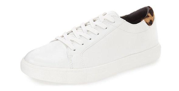 ZXD Men's Women's Sneakers Low Top Running Athletic Flats Leopard Lace up Round Toe Shoes (White,9.5 D(M)US Men/11 B(M)US Women)