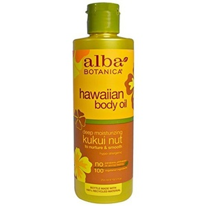 Alba Botanica Hawaiian Body Oil Deep Moisturizing Kukui Nut - 8.5 Oz by Alba Botanica