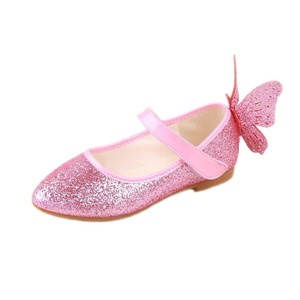 Toddler Girls Fancy Butterfly Round Toe Princess Shoes Mary Jane Ballarina Flats (8.5 M US Toddler, Pink)