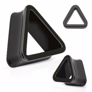 Triangle Tunnel Solid Acrylic Double Flared WildKlass Plug (Sold as a Pair)