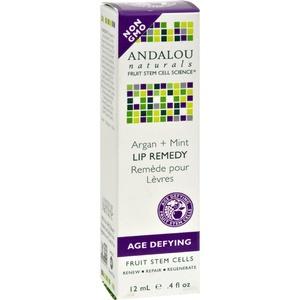 2Pack! Andalou Naturals Lip Remedy Argan + Mint - .4 oz