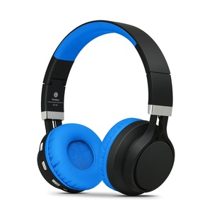 Spoetry BT-02 Wireless Bluetooth Headphone Foldable Stereo Over-Ear Headsets with Volume Control and Microphone(Black+Blue)