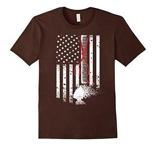 Men's Hair Stylist Flag T Shirt XL Brown