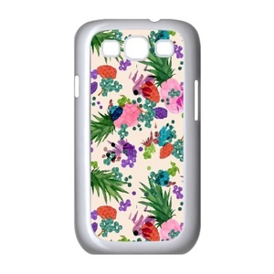 Samsung Galaxy s3 Case, LEDGOD Fashionable Gift DIY Pineapple White Cover Phone Case for Samsung Galaxy s3 Shell Phone.