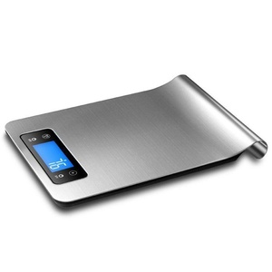 UMEI Multifunction Digital Kitchen Scale g oz lb ml, Food Grade Stainless Steel Kitchen Hang Scale Batteries Included,5kgx1g Silver