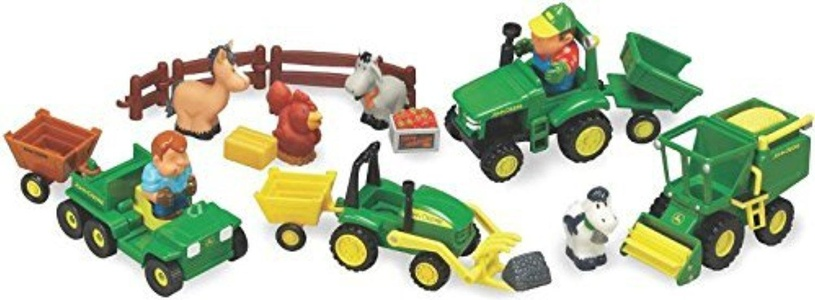 Farm Set Toy 20 Piec John Deer by TOMY INTERNATIONAL