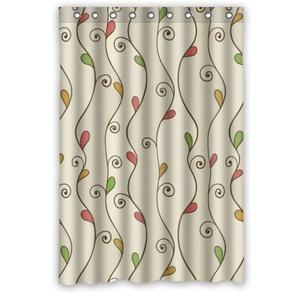 48(W)x72(H)-Inch Waterproof Bathroom Twigs and Leaf Shower Curtain