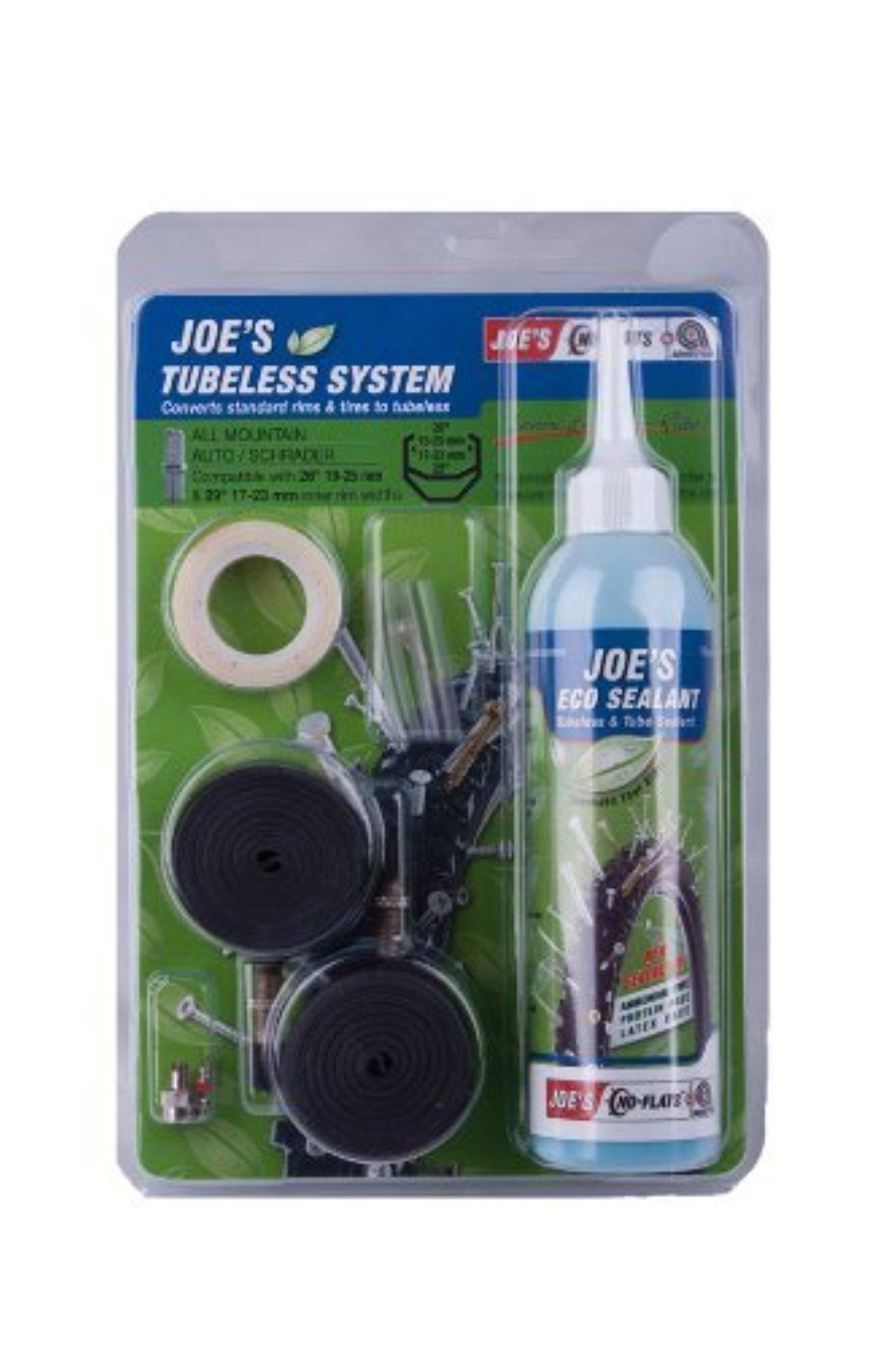 Joe's No-Flats Tubelesskit for AV Rim Hole - Black by Joe's No-Flats