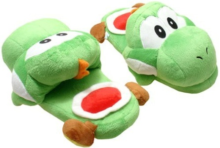 L Super Mario Brothers Yoshi Green Ver. Slippers Plush by Slippers Plush