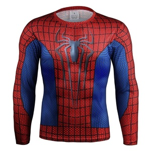 3D Spider Man Sport Quick-dry T-Shirt Long Sleeved Fitness Gym Cycling Jersey