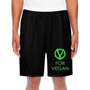 Men's Athletic V For Vegan Popular Free Vegetarian Sports Short Shorts