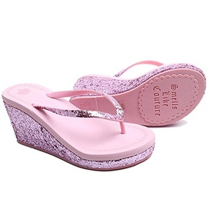 MonicKruh Shoes Womens Cute Lovely Pink Wedge High Heels Beach Flip Flop Wisp Sandals