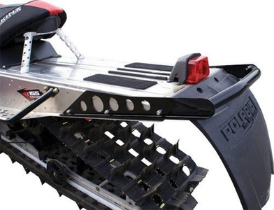 Skinz Protective Gear Rear Aluminum Bumper - Flat Black PRB300-FBK by Skinz Protective Gear
