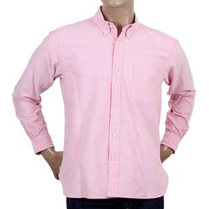 Sugar Cane regular fit Light Oxford pink Shirt CANE4473