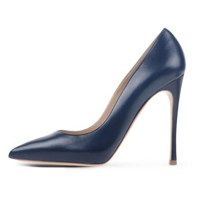 Eldof Women's 120mm Stilettos Heel Pumps Slip On Classic Suede Dress Shoes Navy US8