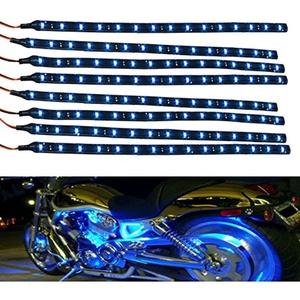 ASDOMO Pack of 8 Waterproof 15 LED 30cm Car Lighting Flexible Strip Decorative Lamp