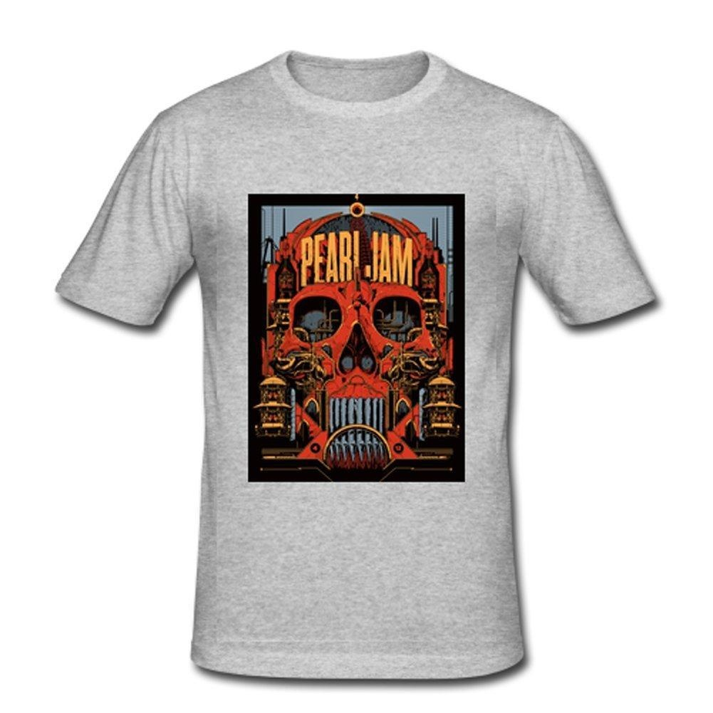 Custom design t shirts vancouver - Pearl Jam Vancouver Custom Design Mens Cotton T Shirt Tee Shirts Silver Small