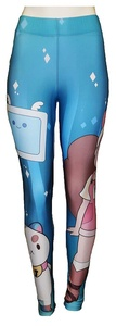 Bee and PuppyCat Animated Characters Women's Stretch Leggings