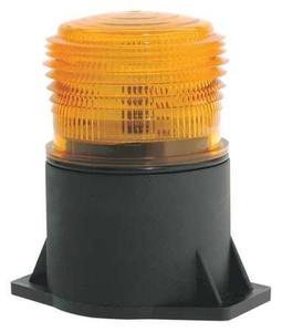 Strobe Light, LED, Amber, Flange Mount