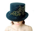 SkyleCoel Women's Steampunk Victorian Top Hat Costume Accessory (60cm)