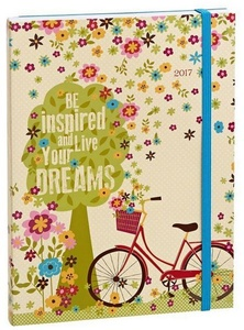 2016-2017 Weekly 18 Month Be Inspired And Live Your Dreams Engagement Calendar Planner