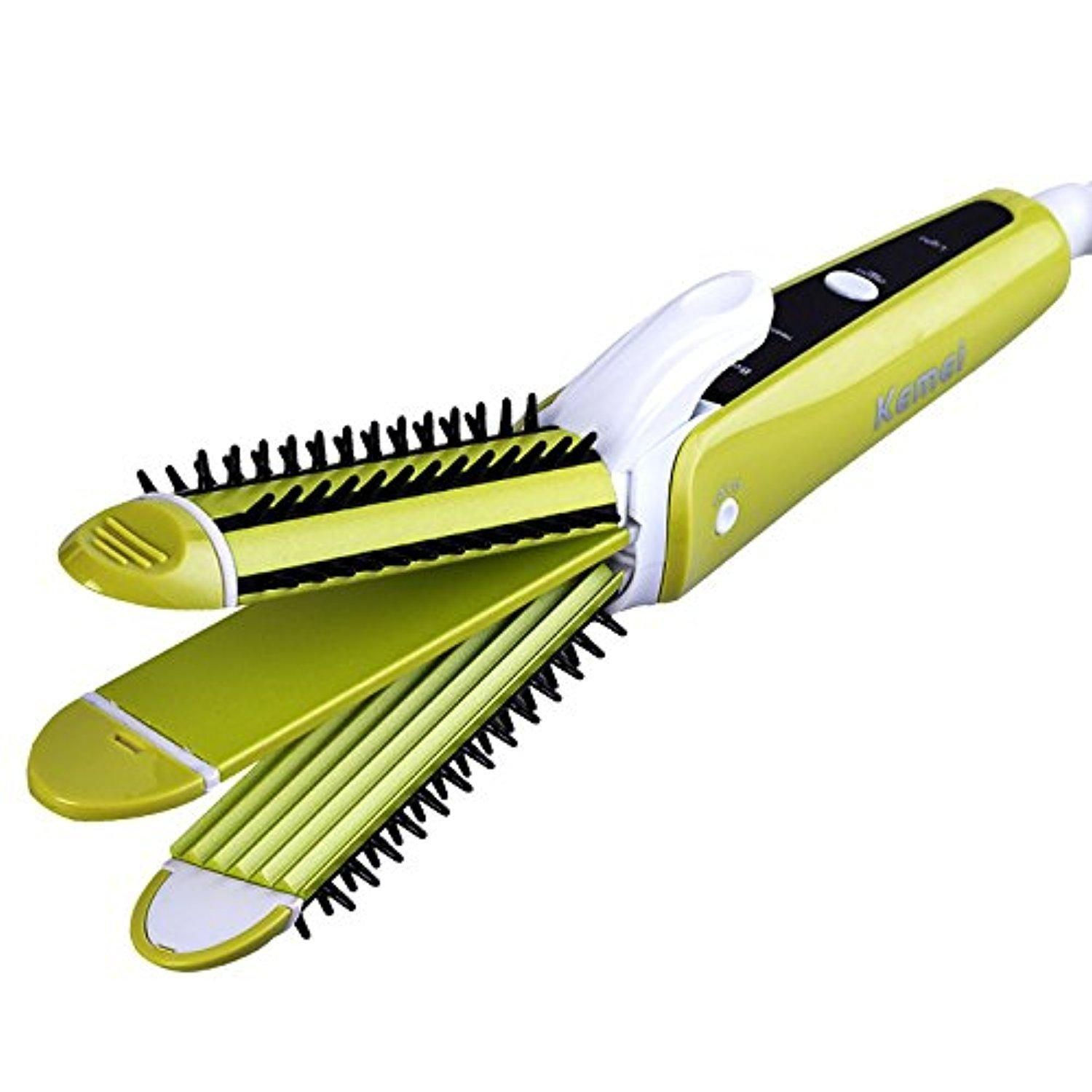 Petbly(TM) Kemei Km-6877 Hair Styling Artifact 3 In 1 Electric Hair Curler Hair Straightener Hair Salon Styling Tools