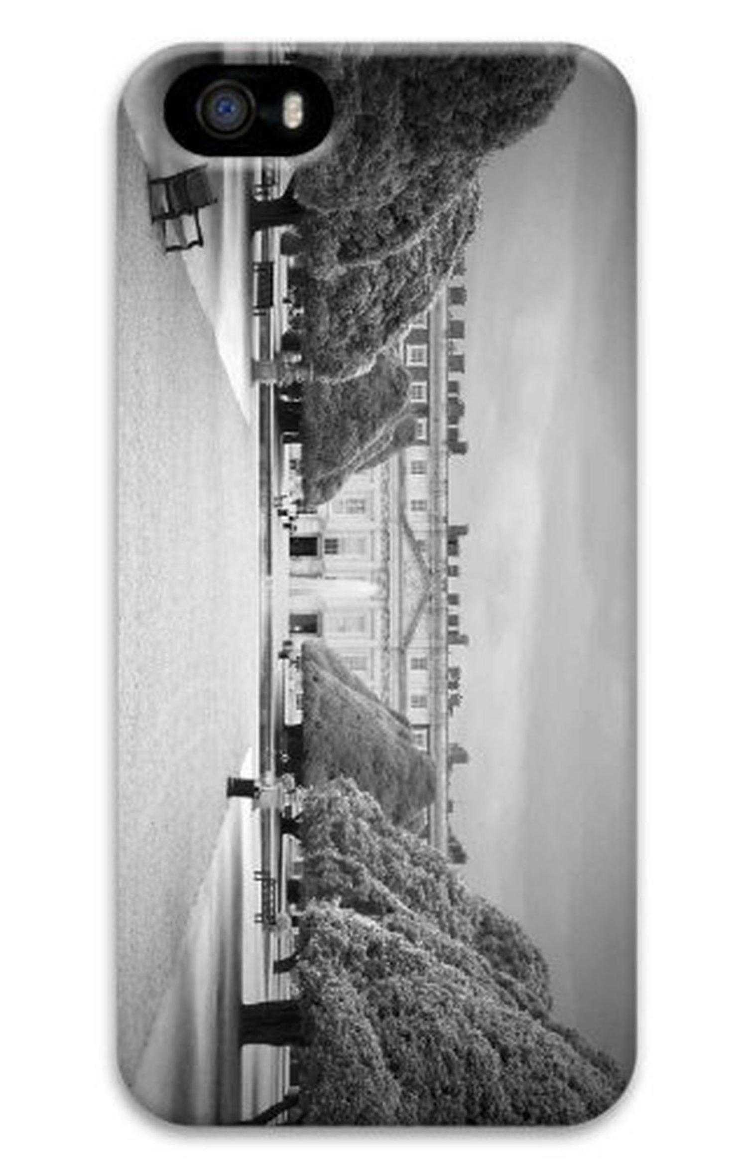 iPhone 5S Case Customized Unique Print Design Hampton Court Palace Bw iPhone 5 5S