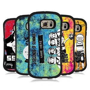 Custom Customized Personalized 5 Seconds Of Summer Mixed Icons Hybrid Case for Samsung Galaxy S6 edge