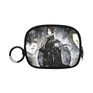 HomeWishes Black Bulter Polyester Fabric Cute Custom Coin Purse Money Clutch Bags