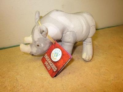 Burger King Endangered Species Rhinoceros 5 Plush by BK Planet