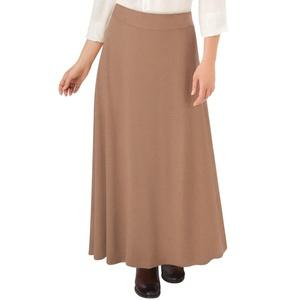 Faux Suede A-Line Skirt, Camel, Medium
