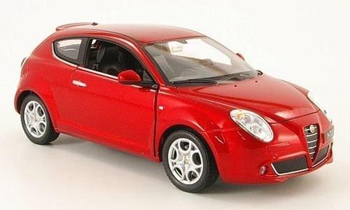 Alfa Romeo MiTo, met.-rot, Modellauto, Fertigmodell, Welly 1:24 by Alfa Romeo