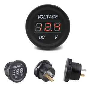 Cibo 12V-24V Motorcycle LED Digital Display Voltmeter Socket Waterproof Meter BTSY