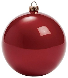 Set of 4 Large Shiny Burgundy Christmas Ball Ornament 3inch Decorative Holiday Ball Ornaments Red Burgundy Ball Ornaments 80MM