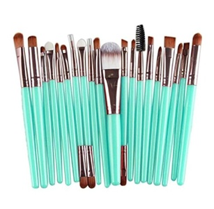 Shensee New 20 pcs Makeup Brushes Set tools Make-up Toiletry Kit Wool Make Up Face Brush (Rose Gold)