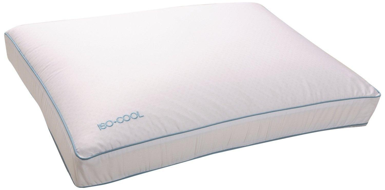 2 X Iso-Cool Memory Foam Pillow, Gusseted Side Sleeper ,Standard