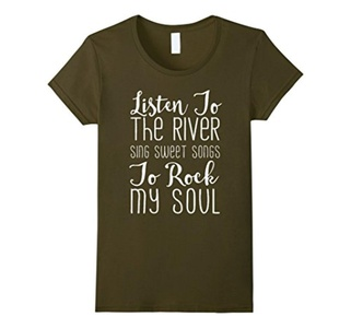 Women's Listen To The River T-shirt XL Olive