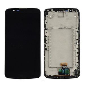 New Black LG K10 K410 K420 K430 Touch Digitizer Glass+Lcd Display Assembly Frame