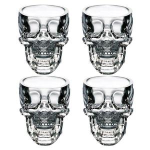 EASYTAR Crystal 3D Skull Pirate Shot Glass Drink Cocktail Beer Cup , Set Of 4