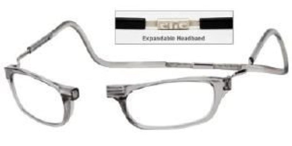 Reading Glasses Clic front connection glasses Clear-Strength +1.50 by For Your Eyes Only