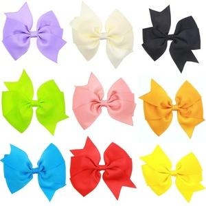 20pcs 3inch Boutique Hair Bows Girls Kids Children Alligator Clip Grosgrain Ribbon