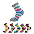 E-SideStep Women's Cotton Toe Socks-Breathable-6 PAIRS Pack
